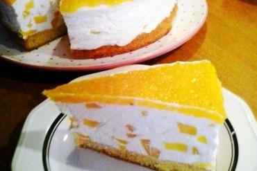 Pfirsich quark joghurt torte
