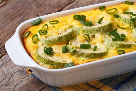 Überbackener Zucchini-Auflauf