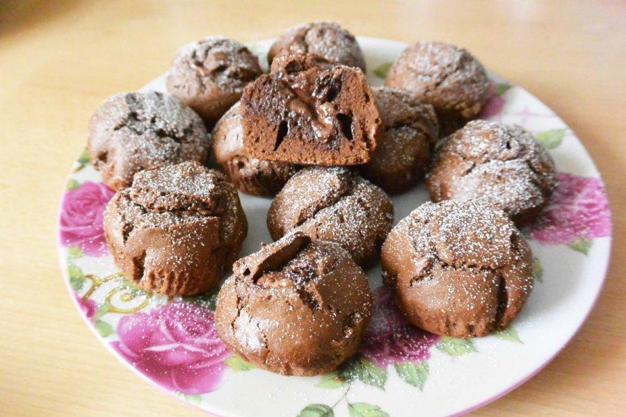 Muffin rezept mit flussigem schoko kern