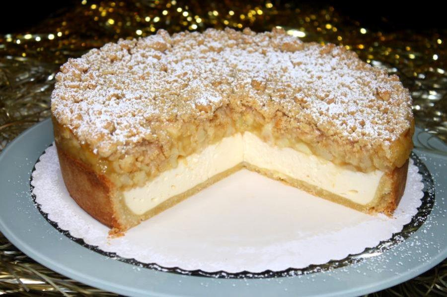 Zimtstreusel Topfenkuchen Mit Apfel Rezept Kochrezepte At
